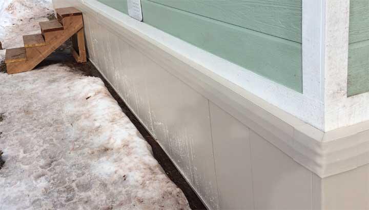 DesertSandGorilla2 Insulating Under A Mobile Home Skirting on cement board skirting, insulating mobile home floors, insulating mobile home walls, insulating mobile home ceilings,