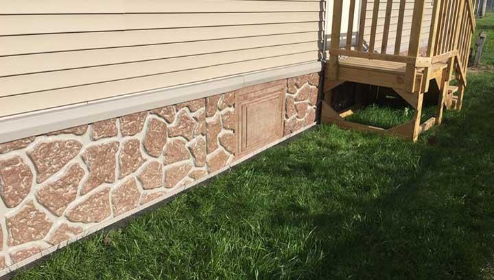 SandstoneThermalER3 Insulating Under A Mobile Home Skirting on cement board skirting, insulating mobile home floors, insulating mobile home walls, insulating mobile home ceilings,
