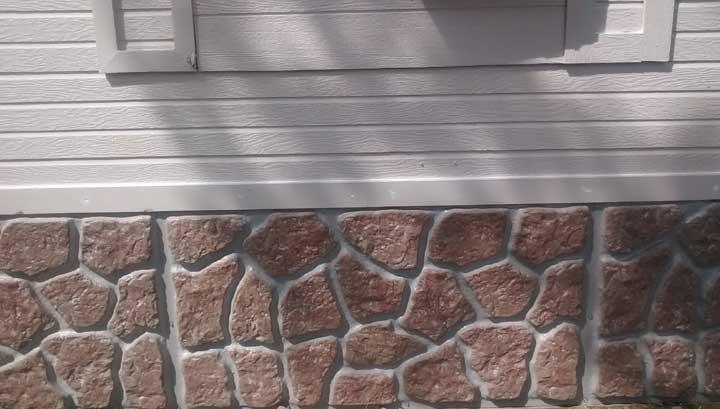 Everrock vinyl skirting from - Fake brick skirting ...